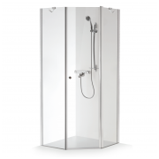 Baltijos Brasta kampinė dušo kabina Lina 900x900