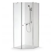 Baltijos Brasta kampinė dušo kabina Lina 1000x1000