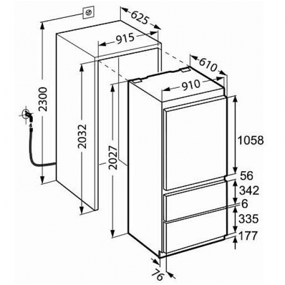 hotpoint integrated fridge freezer door fitting instructions