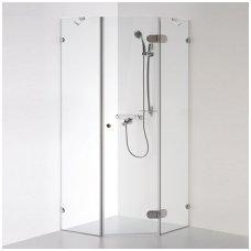 Baltijos Brasta kampinė dušo kabina Nida 900x900