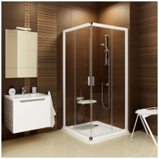 Ravak kvadratinė dušo kabina Blix BLRV2K+BLRV2K 1000x1000