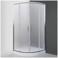 SaniPro pusapvalė dušo kabina Houston Neo 900x900 N0649