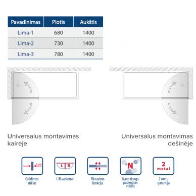 Kyma vonios sienelė 780 LIMA-3  2