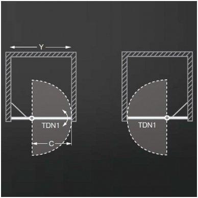 Roltechnik dušo durys TDN1 1200 2