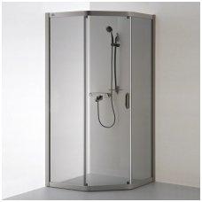 Baltijos Brasta kampinė dušo kabina Vaiva 900x800