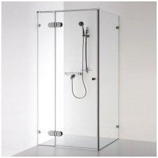Baltijos Brasta kvadratinė dušo kabina Nora Plius 1000x1000