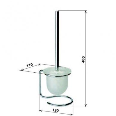 Bemeta pastatomas WC šepetys Omega 104113102 2