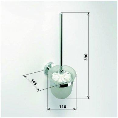 Bemeta pakabinamas WC šepetys Omega 104113012 2
