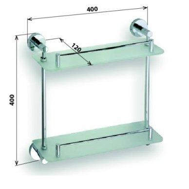 Bemeta stiklinės lentynėlės Omega 104202122 2