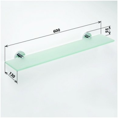 Bemeta stiklinė lentynėlė Omega 104102042 2
