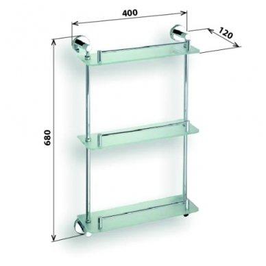 Bemeta stiklinės lentynėlės Omega 104202132 2