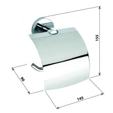 Bemeta WC popieriaus laikiklis su dangteliu Omega 104112012 2