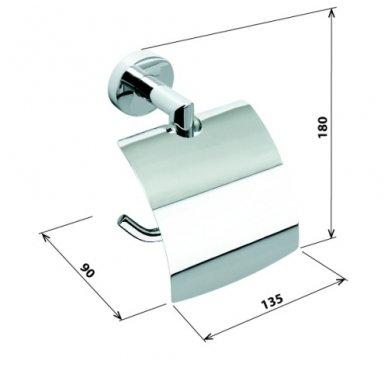 Bemeta WC popieriaus laikiklis su dangteliu Omega 104212012 2