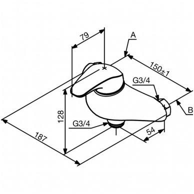 Damixa potinkinis maišytuvas plautuvei Space 10350 2