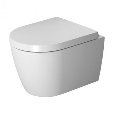 Duravit pakabinamas WC su dangčiu ME by Starck Compact (Rimless) 45300900A1