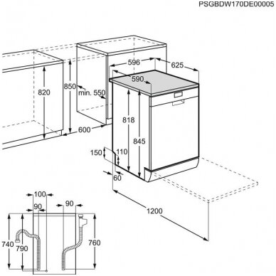 Electrolux indaplovė ESF9500LOX  2