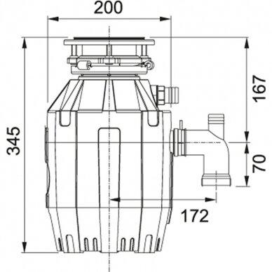 Franke atliekų smulkintuvas Turbo Elite TE-50 2
