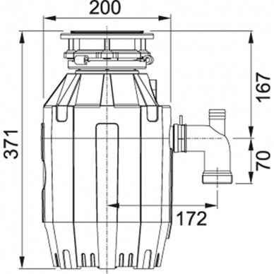 Franke atliekų smulkintuvas Turbo Elite TE-75 2