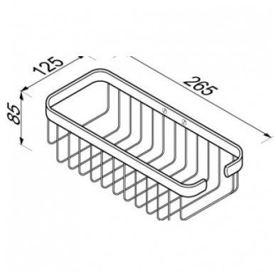 Geesa šampūno/kempinės krepšelis Basket 91140 2