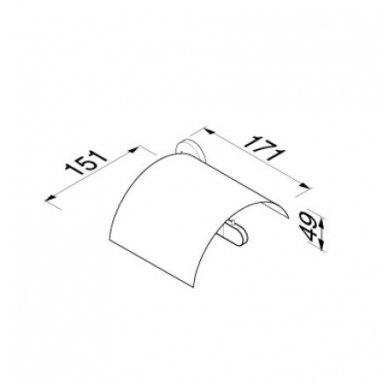 Geesa WC popieriaus laikiklis Tone Gold 917308-04-R 2