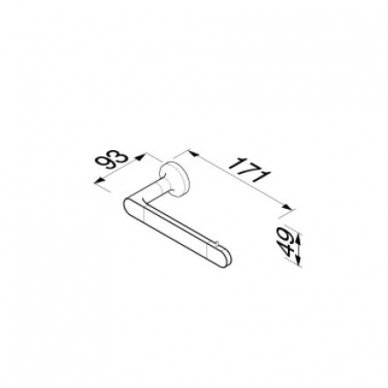 Geesa WC popieriaus laikiklis Tone Gold 917309-04-R 2
