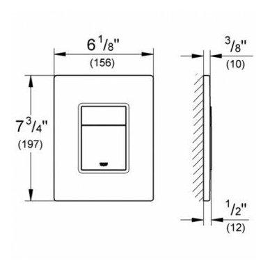 Grohe potinkinis rėmas WC puodui Rapid SL 3in1 38772001 7