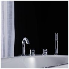 Gustavsberg 4 dalių termostatinis maišytuvas voniai + snapas Scandic GB41217143+GB41638390