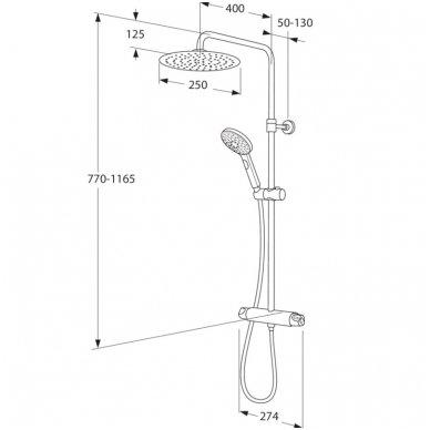 Gustavsberg dušo komplektas su maišytuvu G3 Nautic GB41215330 2