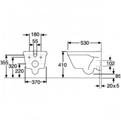 Gustavsberg pakabinamas WC Hygienic Flush 5G84 2