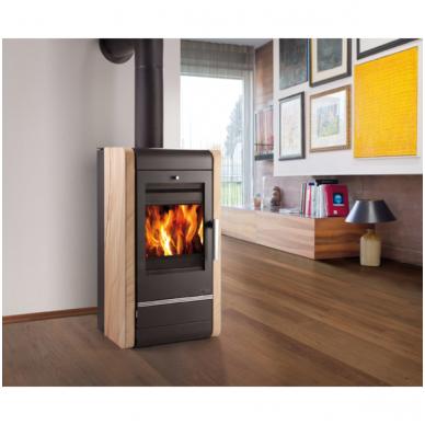 Haas+Sohn plieninė krosnelė su šilumokaičiu AVESTA 2