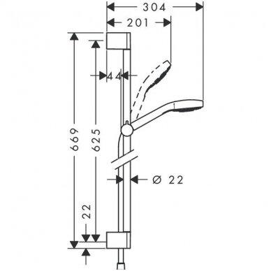 Hansgrohe dušo komplektas Croma Select S 0.65 2