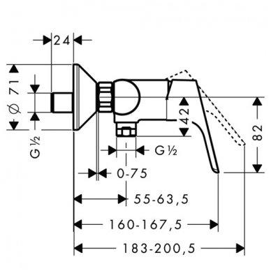 Hansgrohe maišytuvas dušui Focus 31960000 2