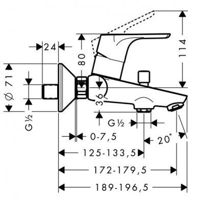Hansgrohe maišytuvas voniai Focus 31940000 2