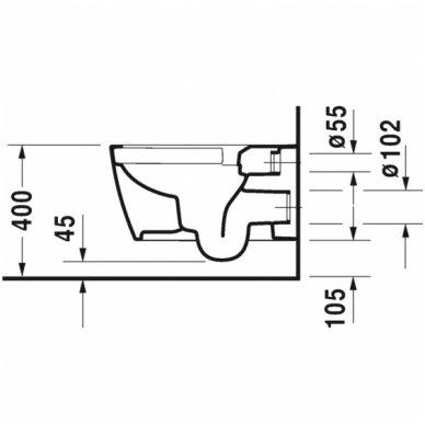 Duravit pakabinamas WC su dangčiu ME by Starck (Rimless) 45290900A1 3