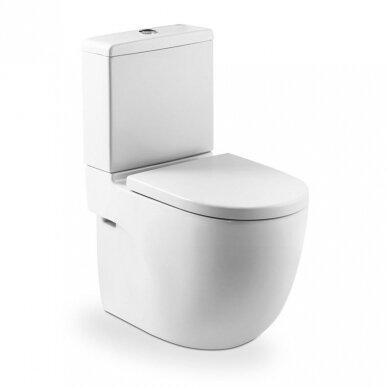 Roca pastatomas WC su dangčiu Meridian Compact Rimless