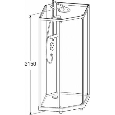 IDO penkiakampė dušo kabina Showerama 10-5 900x900 2