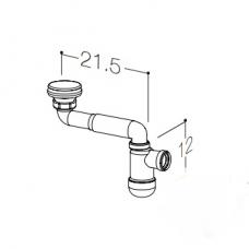 Kamė sifonas praustuvui AC1412