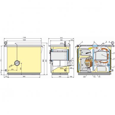 Kalvis centrinio šildymo katilas-viryklė K-4AB 2