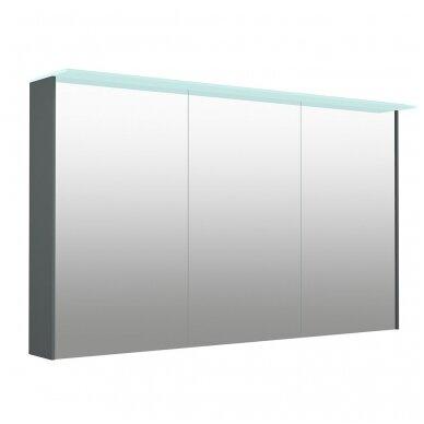 Kamė veidrodinė spintelė su šviestuvu NATURA VETRO 120