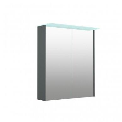 Kamė veidrodinė spintelė su šviestuvu NATURA VETRO 60