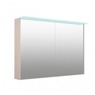 Kamė veidrodinė spintelė su šviestuvu NATURA VETRO 100 3