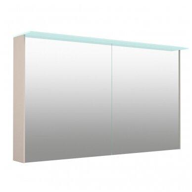 Kamė veidrodinė spintelė su šviestuvu NATURA VETRO 120 3