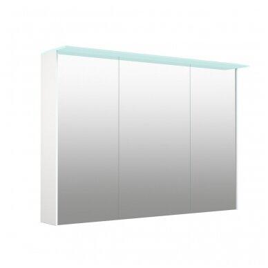Kamė veidrodinė spintelė su šviestuvu NATURA VETRO 100 2