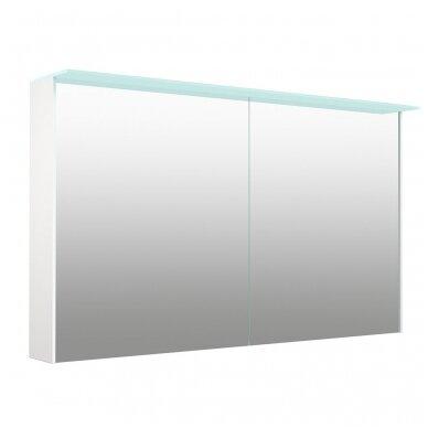 Kamė veidrodinė spintelė su šviestuvu NATURA VETRO 120 2