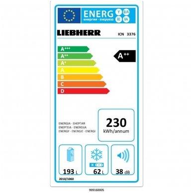 Liebherr įmontuojamas šaldytuvas su šaldikliu ICN 3376 Premium 2