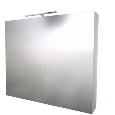 Raguvos baldai veidrodinė spintelė su šviestuvu Scandic 80