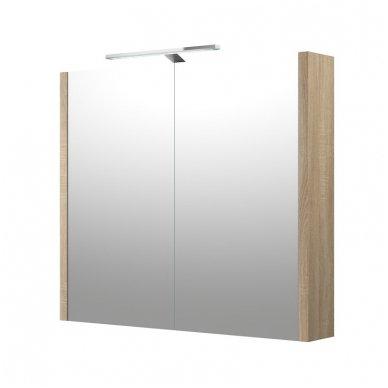 Raguvos baldai veidrodinė spintelė su šviestuvu Gerda 75