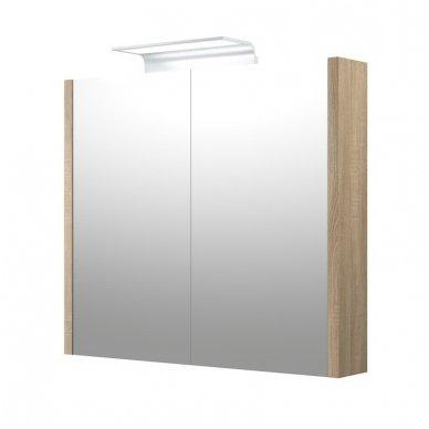 Raguvos baldai veidrodinė spintelė su šviestuvu Wave 75