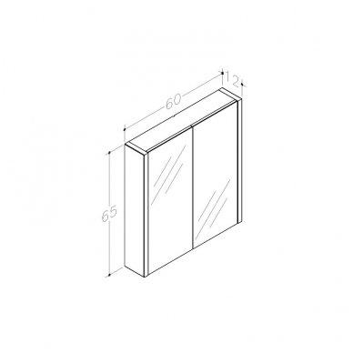 Raguvos baldai veidrodinė spintelė 60 2
