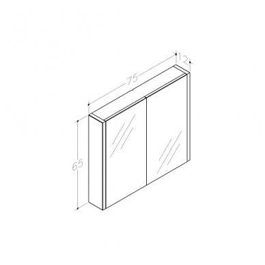 Raguvos baldai veidrodinė spintelė 75 2